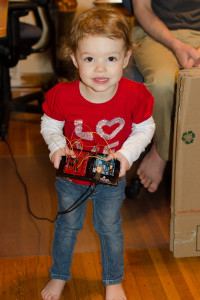 Anna loves the Arduino