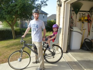 My daughter and me on our bike with our new Hill Topper electric bike kit!