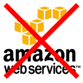 Block all AWS traffic to a server